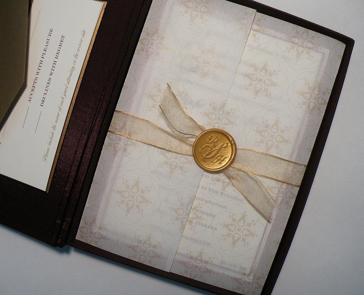 Custom wax seals for wedding invitations u0026