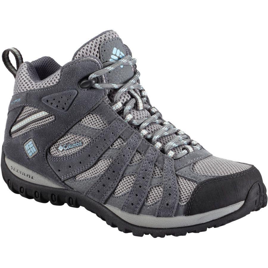Columbia Redmond Mid Waterproof Hiking Boot Women S Light Grey Sky Blue Goruntuler Ile Ayakkabilar
