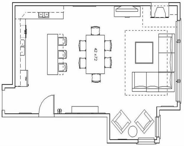 Great room house floor plans floor plan option 2 for Great room floor plans