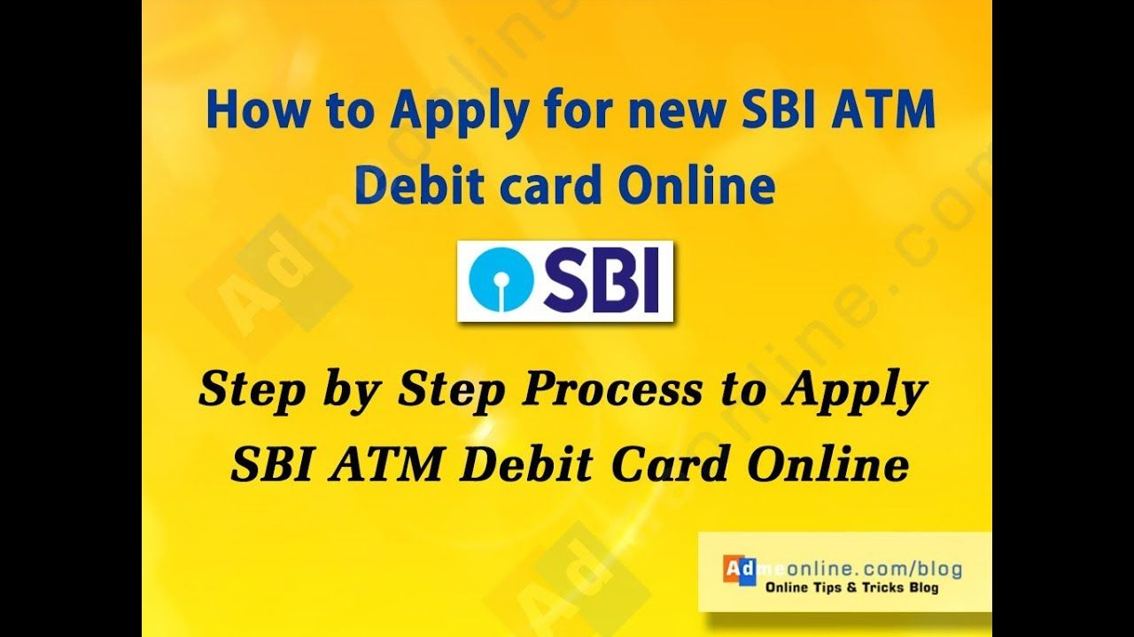 How To Get New Atm Card In Sbi Online