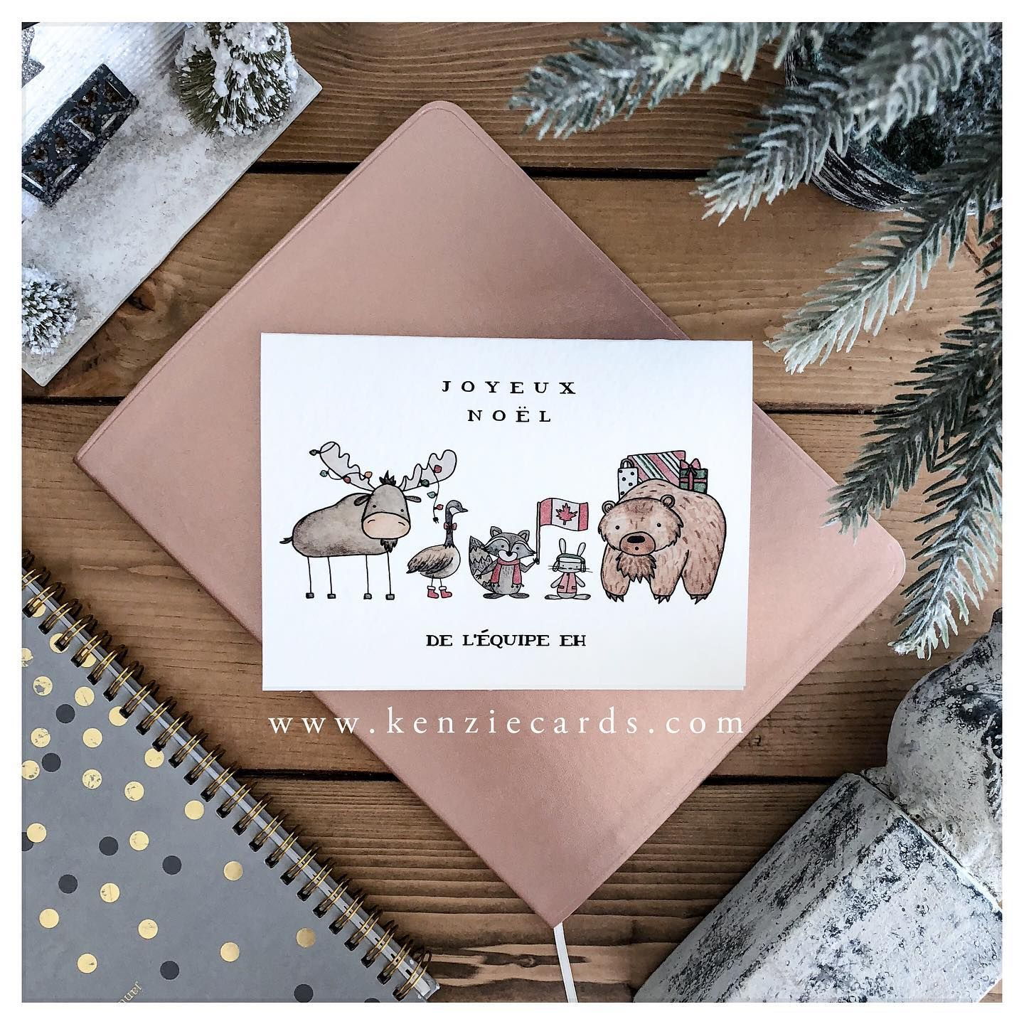 This Is Currently The Top Selling Holiday Kenziecard And Now It Comes In French Feelingca Christmas Cards Christmas Greeting Cards Canadian Gifts