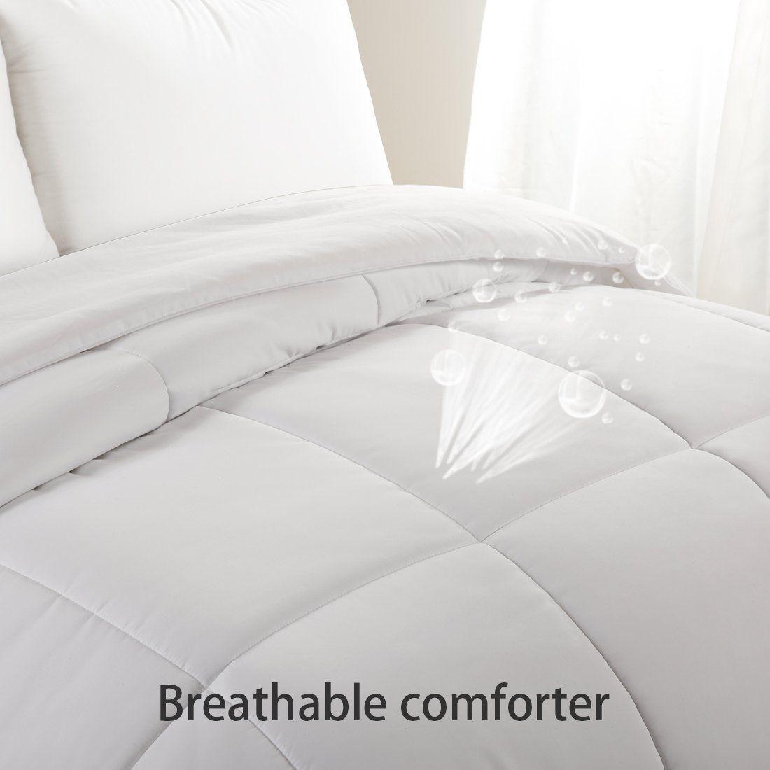 Queen Comforter Duvet Insert White Soft Goose Down Alternative