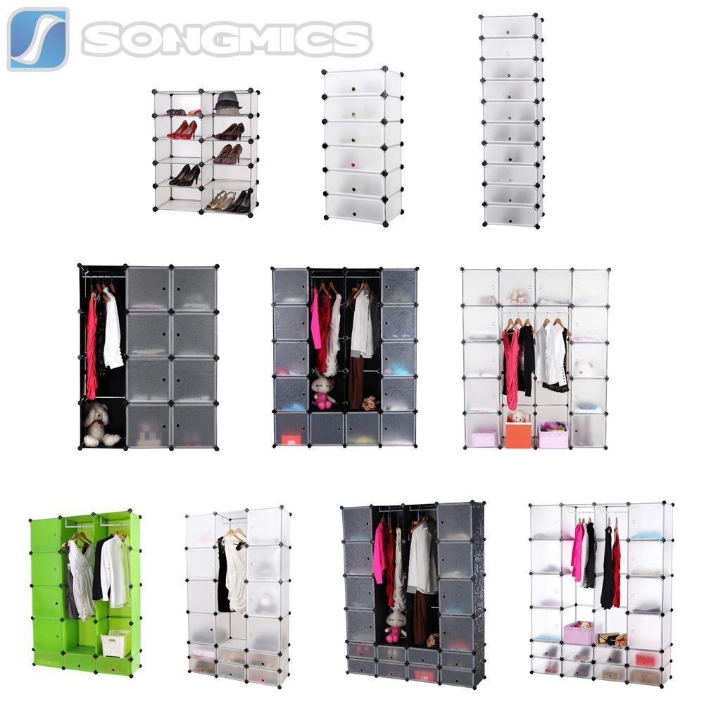 Details zu DIY Steckregal Schrank Kleiderschrank Kunststoff ...