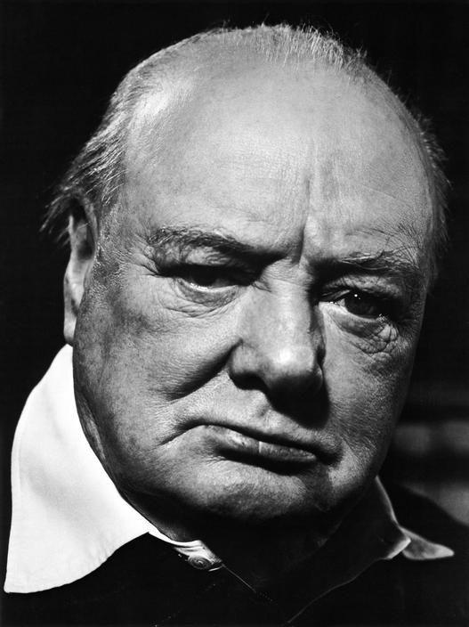 Philippe Halsman GB. ENGLAND. Chartwell. 1951. British Prime Minister Winston CHURCHILL.