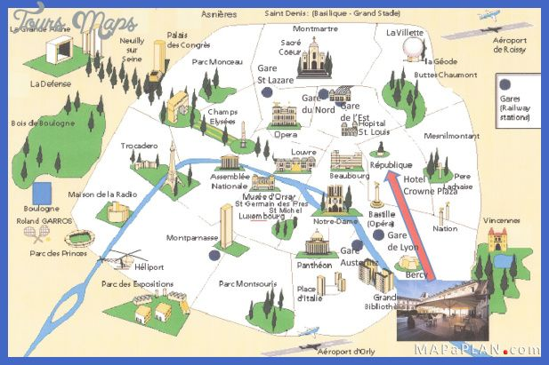 nice paris map tourist attractions
