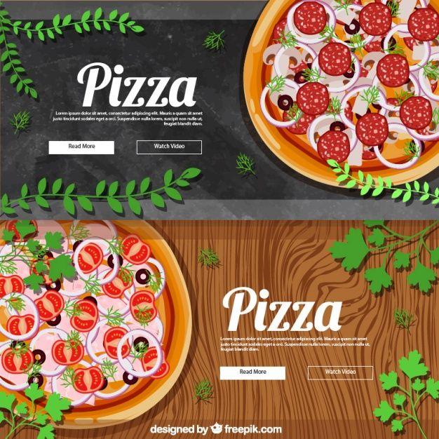 Pizza theme photo banner