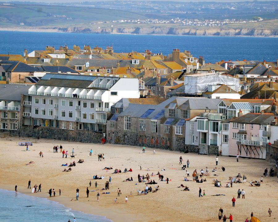 Porthmeor Beach St Ives Castles To Visit Cornwall England St Ives