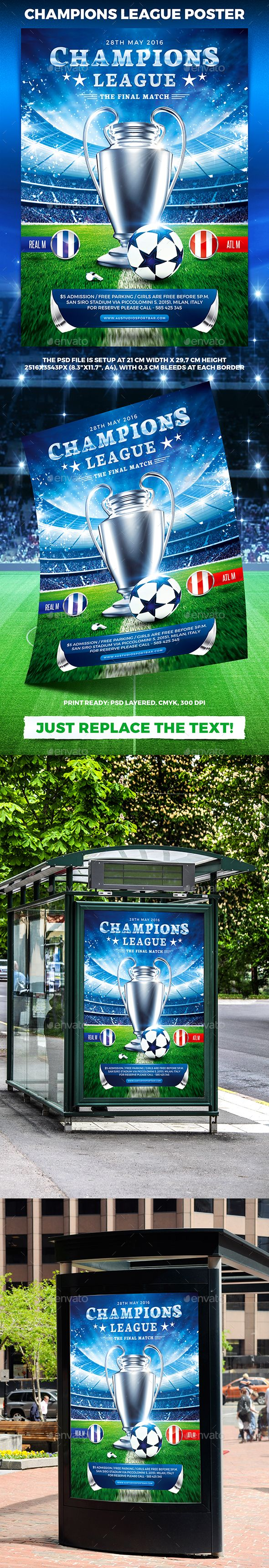 Google chrome themes crvena zvezda - Download Free Graphicriver Football Champions League Poster Vol 2 4ustudio Ball Championsleague