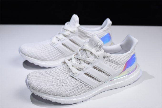 af53a73364da 2018 Adidas Ultra Boost 4.0 Iridescent Triple White BY1756 For Sale-1