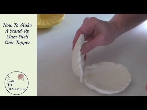 5 How To Make An Open Clam Shell Cake Topper For Beach Weddings Mermaid Cakes And Ocean Cakes Youtube Cake Ocean Cakes Mermaid Cakes Mermaid Cake Topper