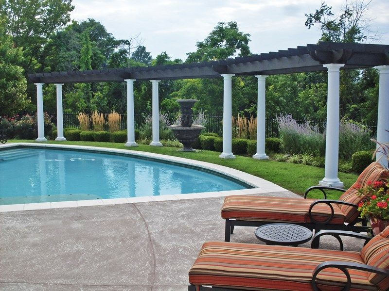 Awesome Pool Trellis Ideas Part - 14: Comfortable And Cozy Pool Pergola Ideas: The Trailing Of Flowers And Green  Plants Over The Roof Of Pool Pergola Can Be Looked Decent And Attractive In  The ...