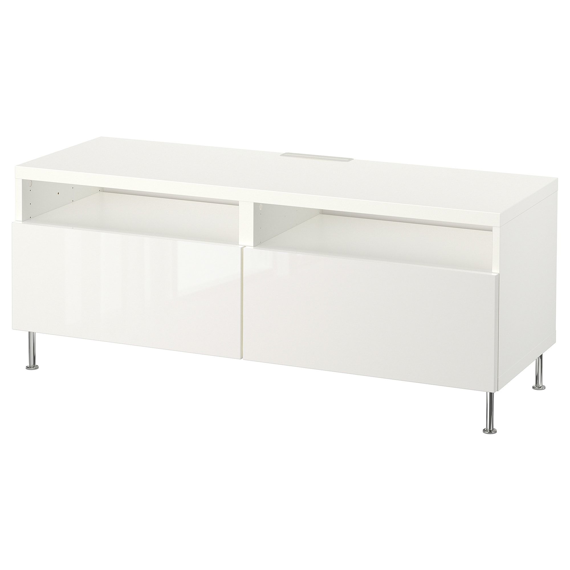 Besta Tv Unit With Drawers White Selsviken Stallarp High Gloss White 47 1 4x15 3 4x18 7 8 Tv Unit Bench With Drawers Tv Bench