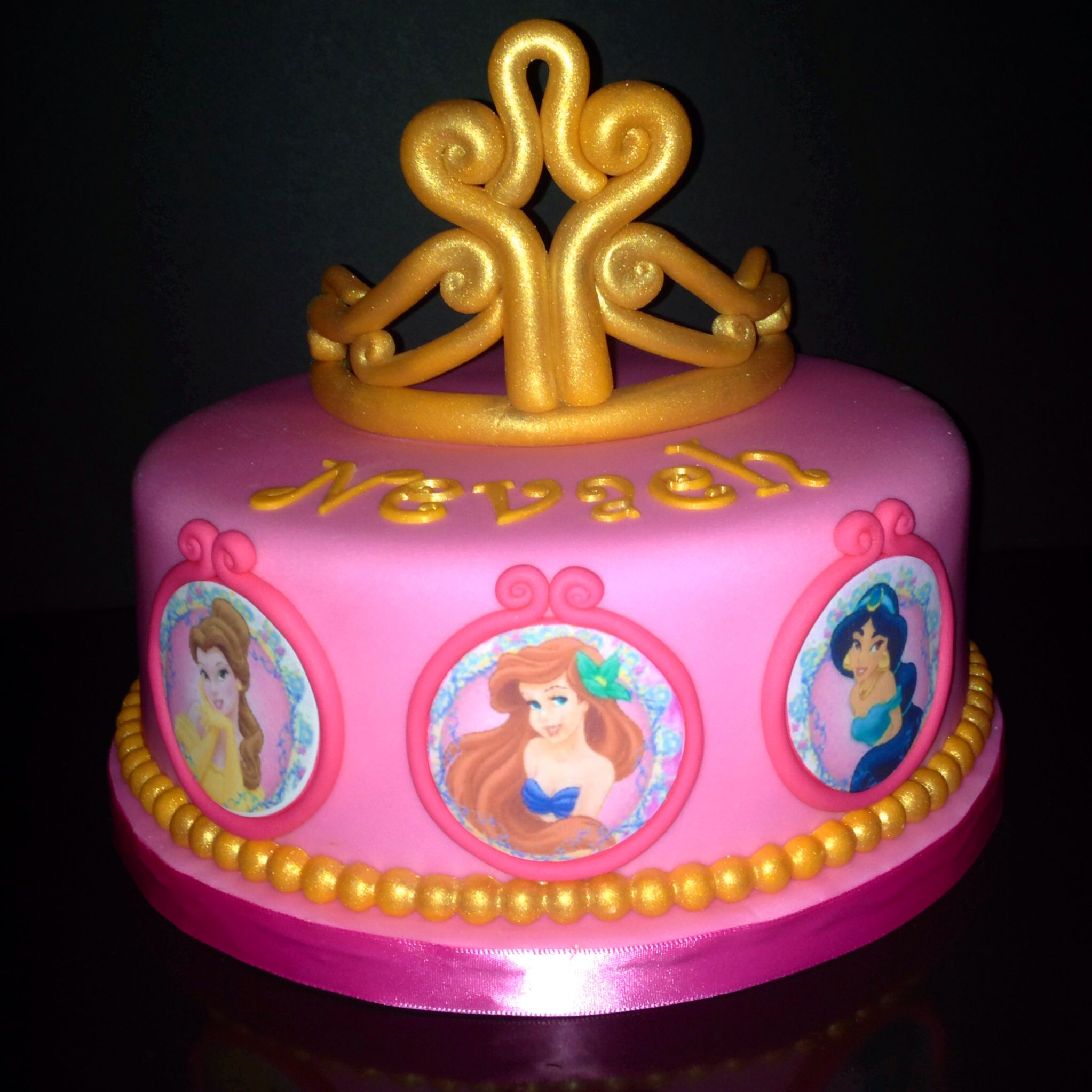 Disney Princesses Cake my cake design Pinterest Princess