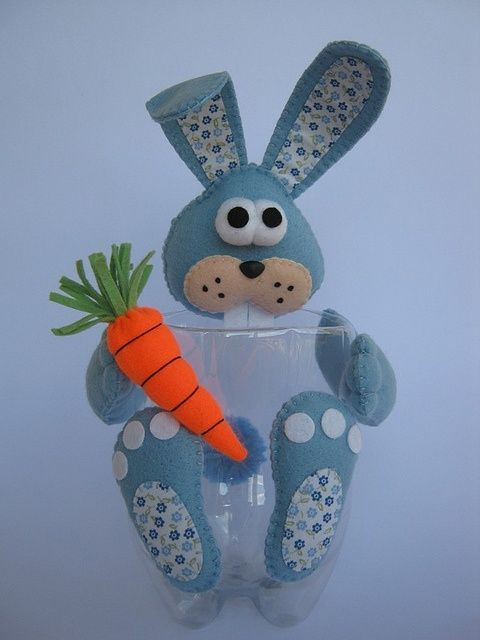 30 manualidades fantásticas con botellas de plástico Easter, Craft