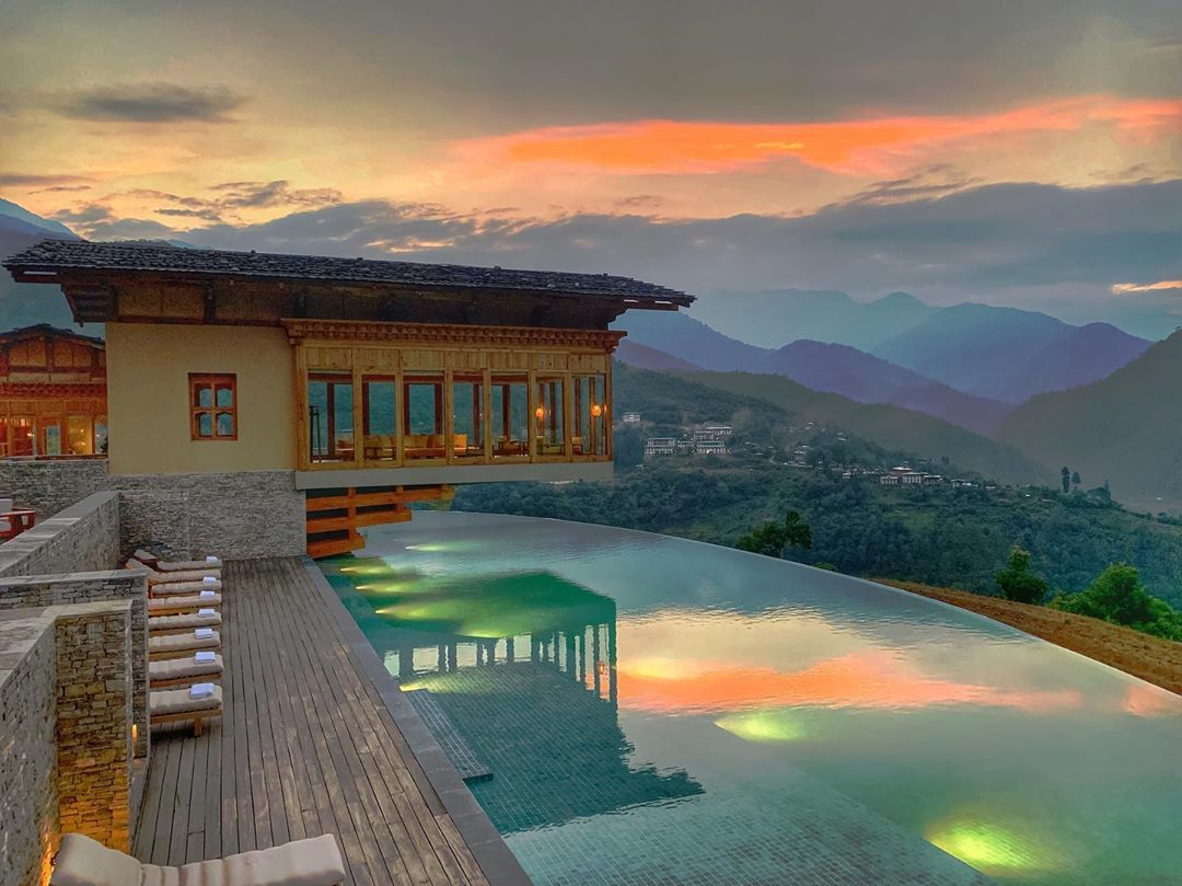 Magical Golden Hour At Six Senses Bhutan Punakha Lodge Nbsp Nbsp Explore Nbsp Nbsp Nbsp Nbsp Bh Hotels And Resorts Bhutan Travel Images