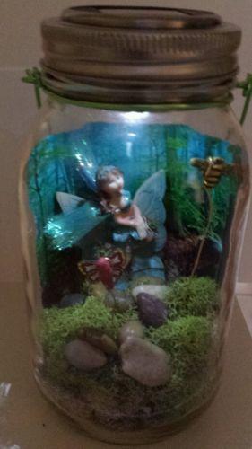Fairy Garden Solar Night Light Mason Jar Craft Kit And