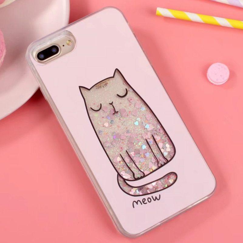 For iPhone 7 plus Cute Liquid Quicksand Glitter Cat Mobile Phone Cases For Apple  iPhone 6 6s plus Women Girl Ladies Case Cover  Affiliate 68b813c856
