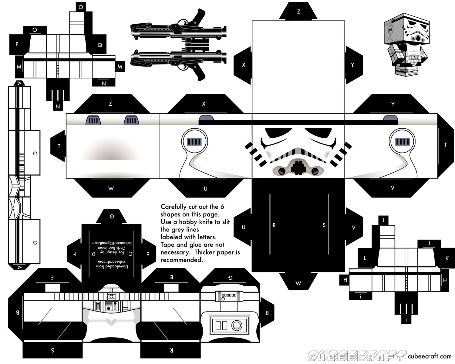 Paper Toys Stormtroopers de Cubeecraft  Star Paper toys and