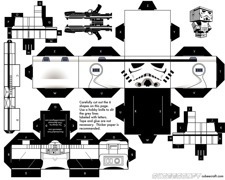 Paper Toys Stormtroopers De Cubeecraft