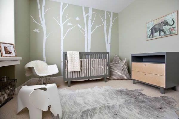 Wandfarbe für Kinderzimmer Grün und Beige Kombinieren 2017