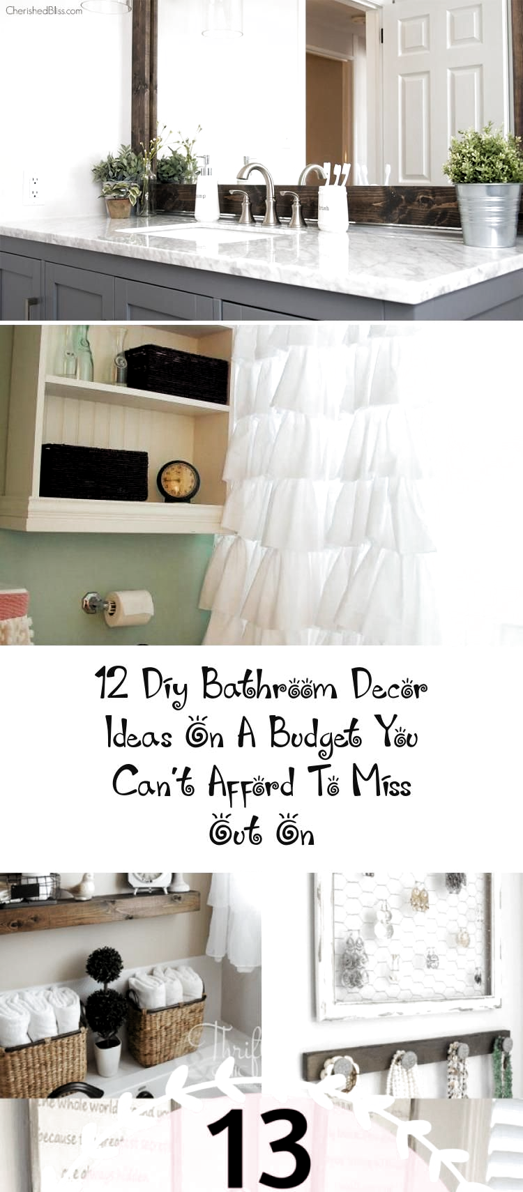 12 Diy Bathroom Decor Ideas On A Budget You Can't Afford To Miss Out On - Decor,  #Afford #Bathroom #Budget #Decor #DIY #diygardencheapdollarstores #ideas