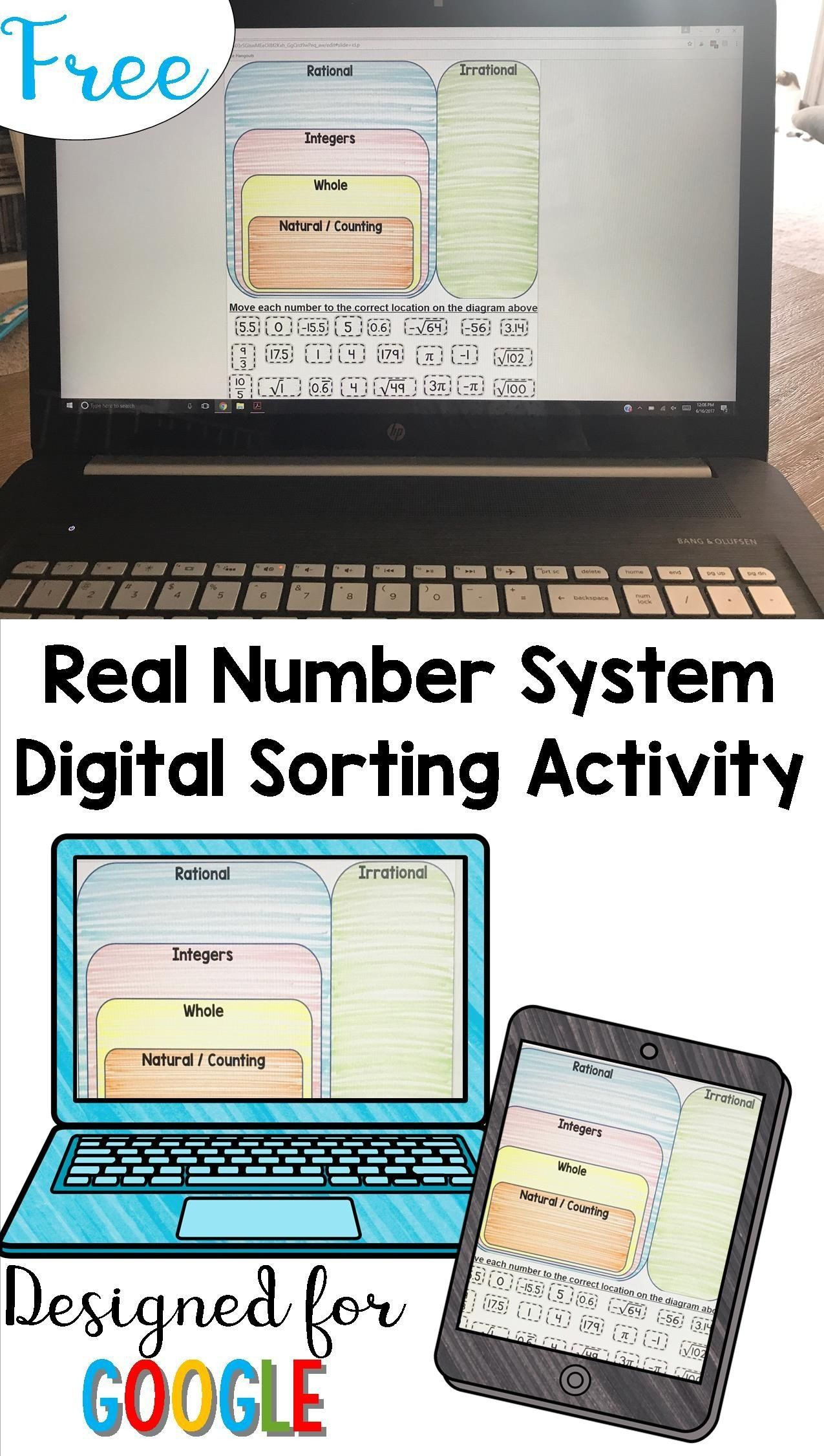 Real Number System Worksheet The Real Numbers Card Sort