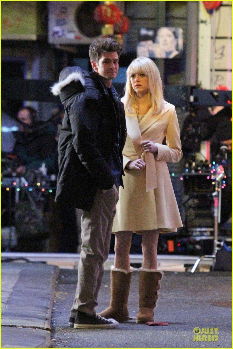 Emma Stone & Andrew Garfield: Scene Stealing Couple on 'Amazing Spider-Man 2' Set
