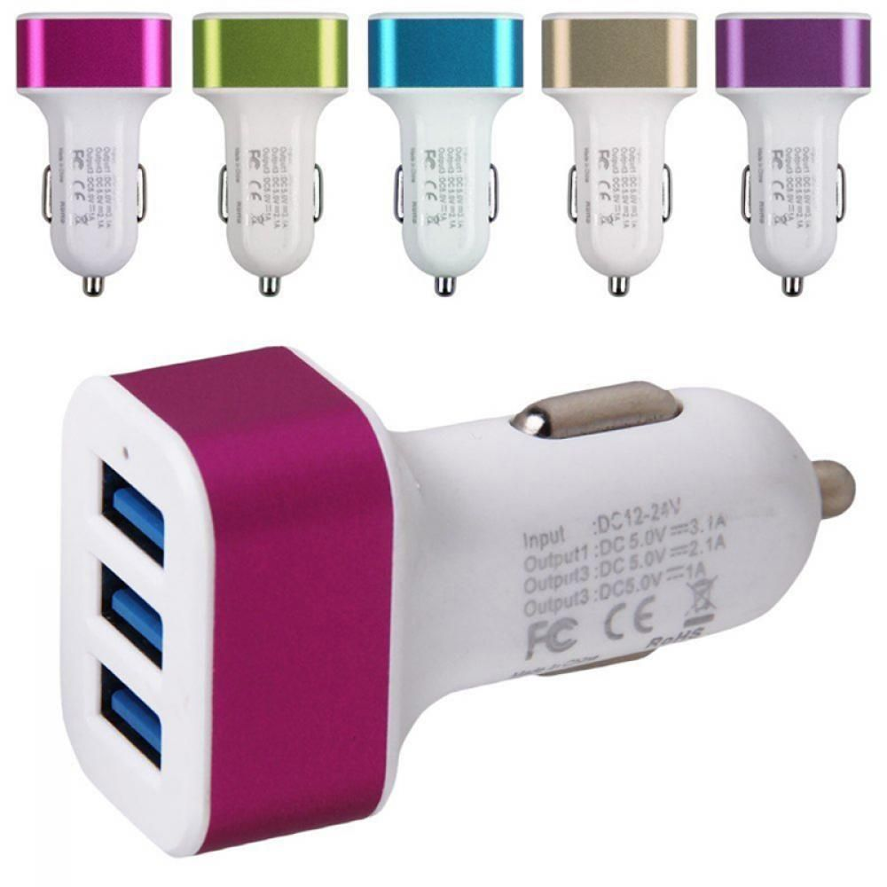 153 21a 1a Car Charger Adapter Universal 3 Usb Port For Samsung Casan 3usb Htc