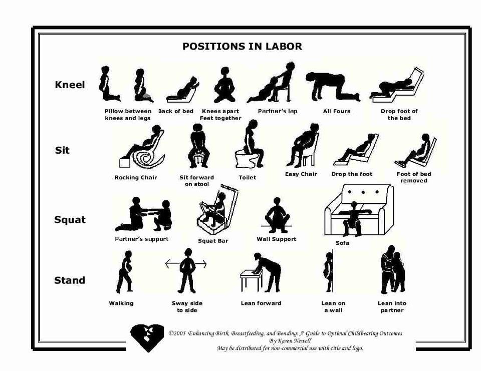 great birth positions cheat sheet
