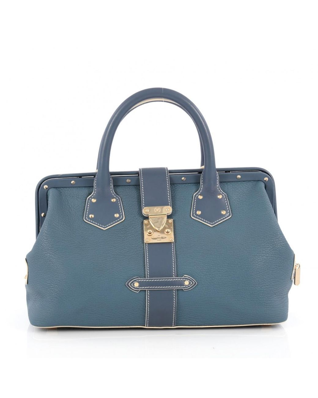 Women s Pre-owned Blue Leather Handbag  a1e0842f6