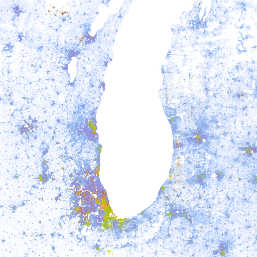 The Racial Dot Map One Dot Per Person for the Entire US