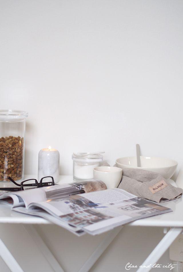 Breakfast at home: http://divaaniblogit.fi/charandthecity/2014/10/11/etsinnassa-ruokapoyta/