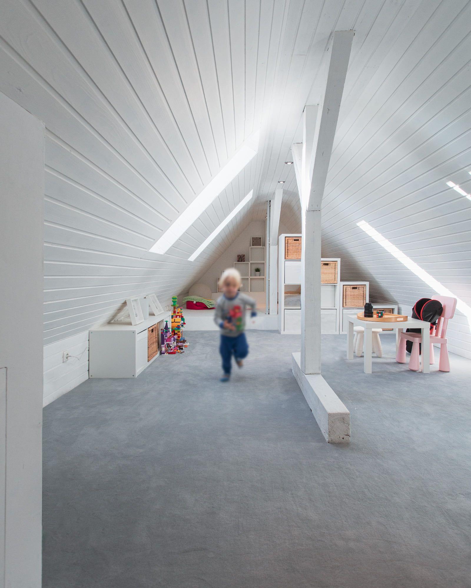 Spitzboden Ausbau Raumwirkung In 2020 Spitzboden Dachboden Renovierung Haus Renovierung Ideen