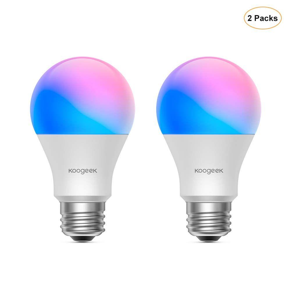 LED Light Bulb, Koogeek WiFi Smart E26 8.5W Dimmable