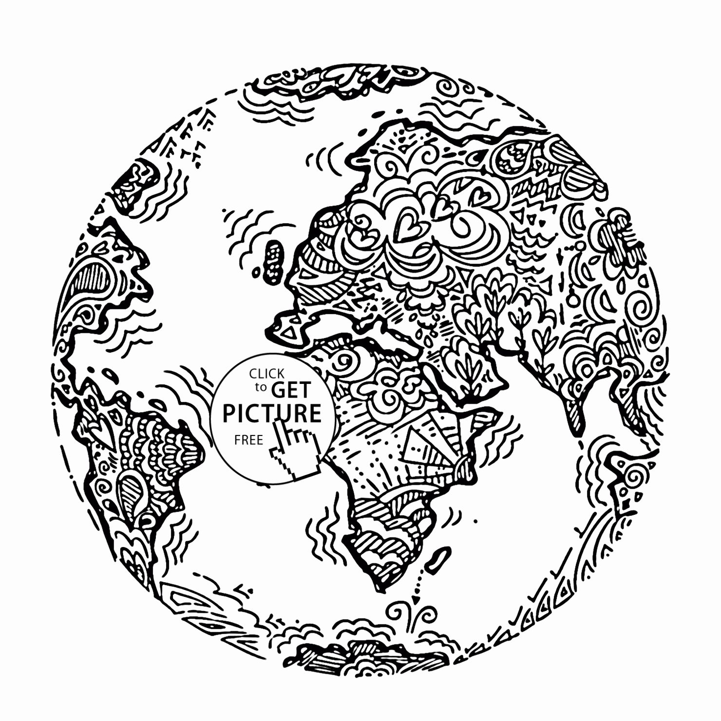 33 Planet Earth Coloring Page