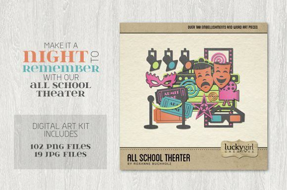 All School Theater. Creative Business Card Templates
