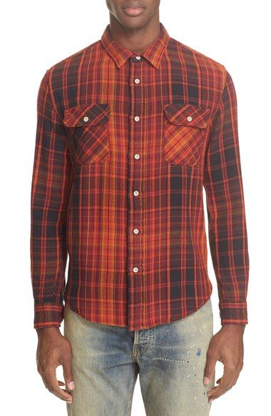LEVI'S 'Shorthorn' Plaid Shirt. #levis #cloth #
