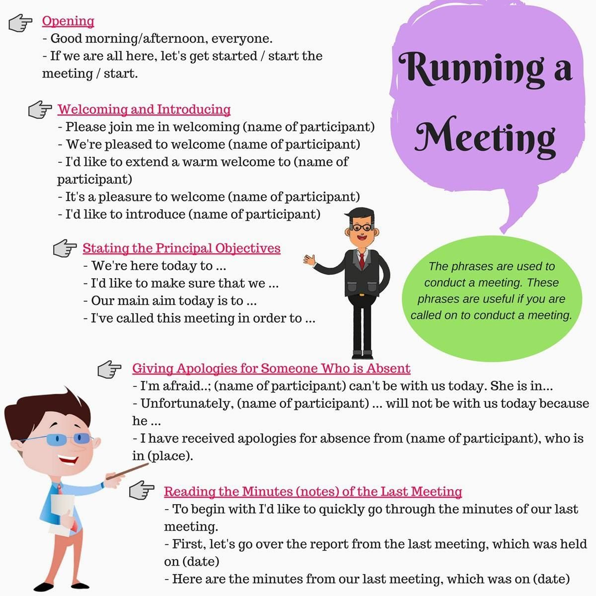 Useful Phrases for Participating in a Business Meeting