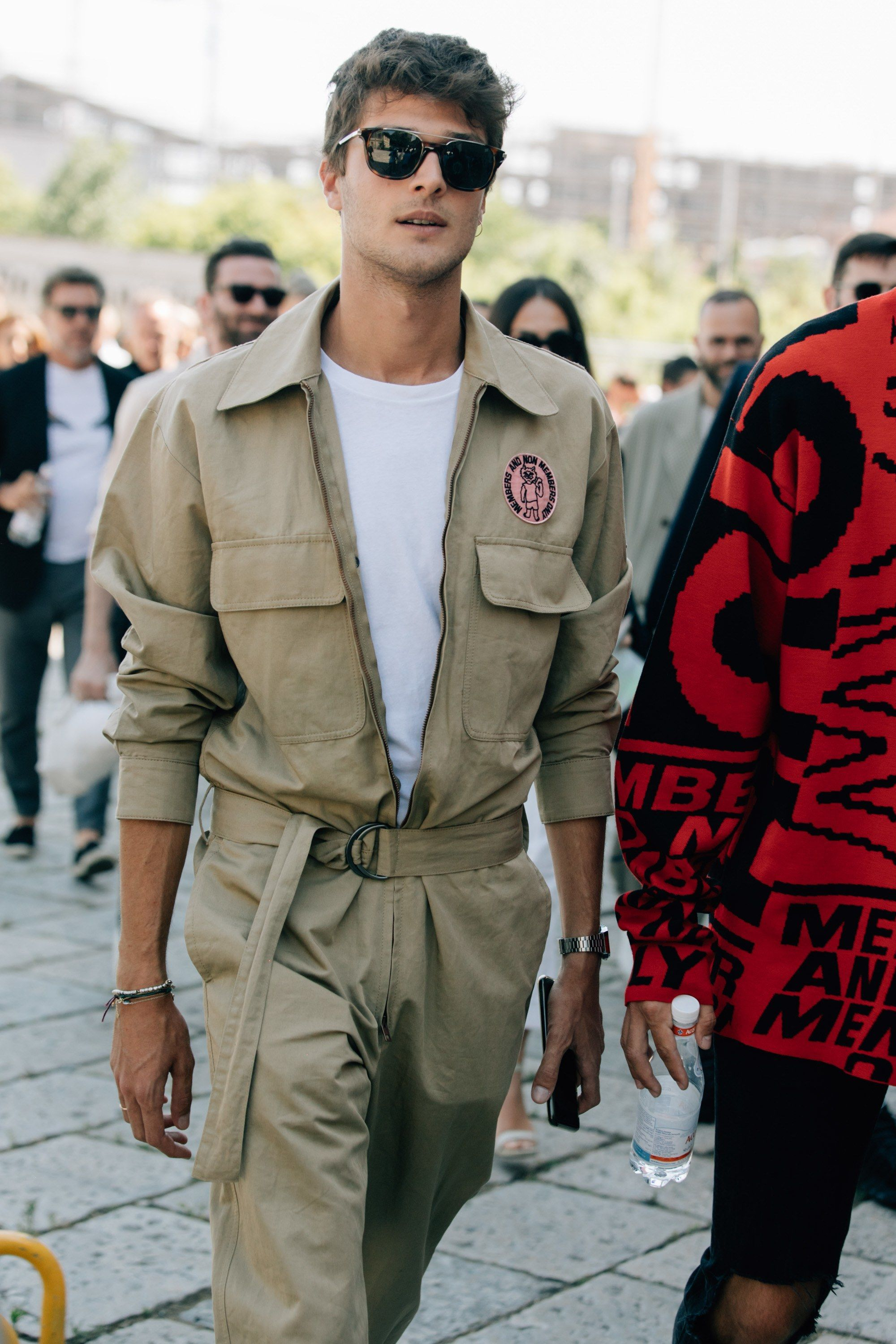 Mens milan fashion week fall street style recommend dress in autumn in 2019