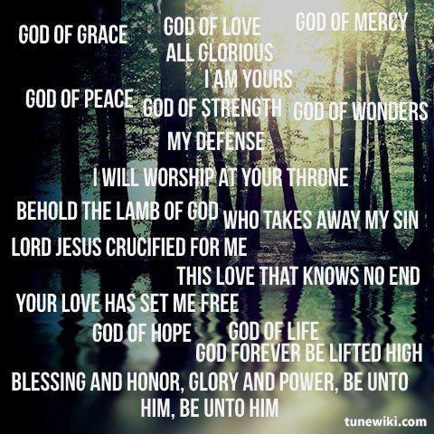 Lyricart For I Am Yours Live By Darlene Zschech Falling In