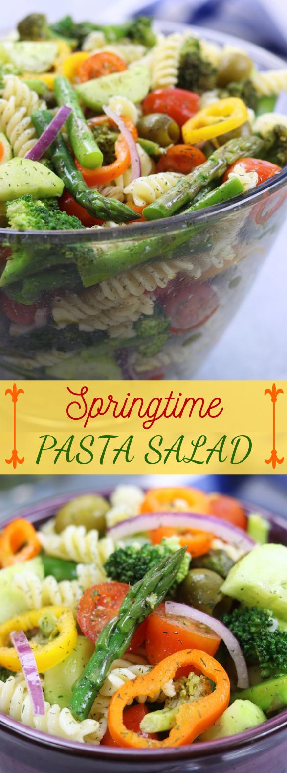 Springtime Pasta Salad #veggies #saladrecipes images