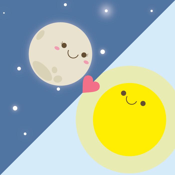 Sol Luna Dibujos Kawaii Ilustraciones Sol Luna
