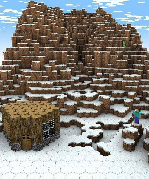 What If Blocks Are Replaced With Hexagons In Minecraft