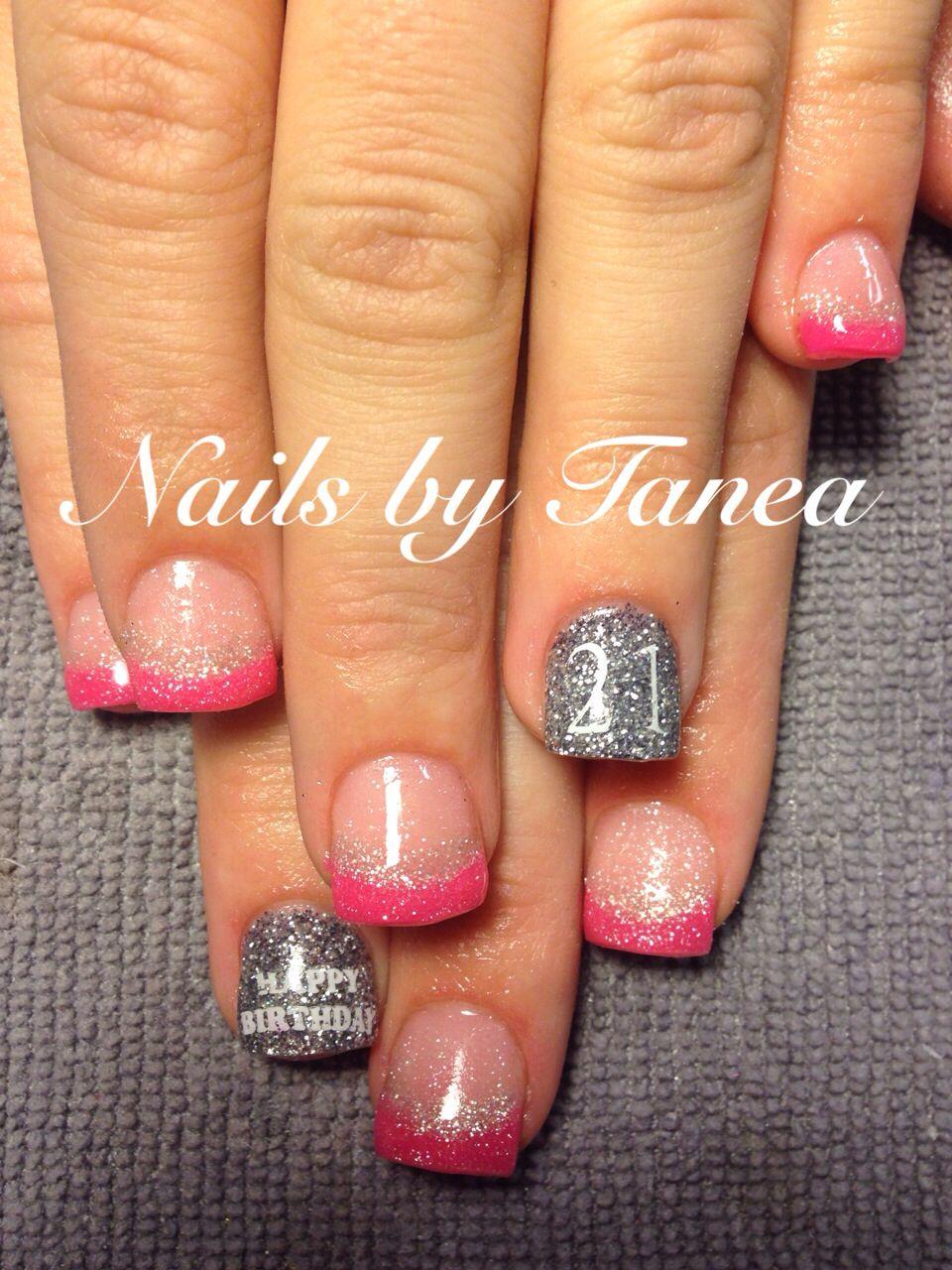 Birthday nails. Glitter nails. Nails 2013. Nailed by Tanea   My gels ...