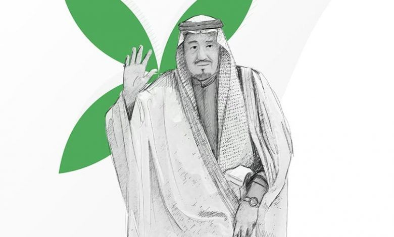 رسومات عن اليوم الوطني رسم لليوم الوطني السعودي 90 بالرصاص للتلوين Humanoid Sketch Art