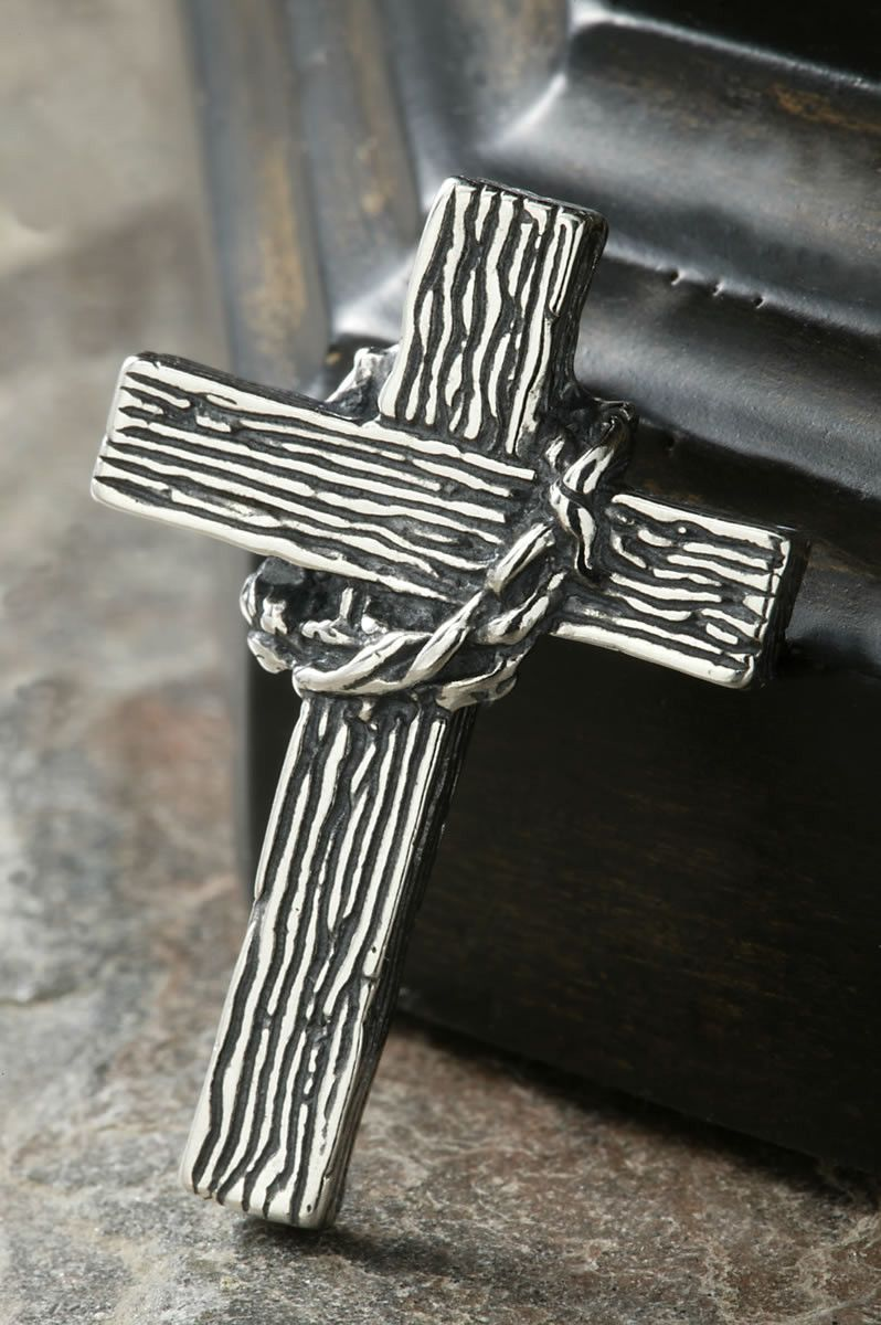 Sterling Silver Crown Of Thorns Cross Celebrate Faith