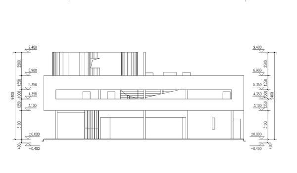 Villa Savoye Final Axonometric + Plans + Sections Architects Le