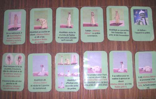 Cartes Prière Apprendre La Priere Apprendre Priere Islam Apprendre L Arabe