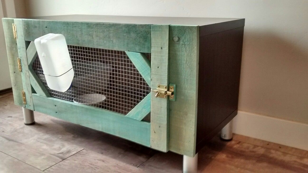 Diy rabbit cage from ikea tv stand ikea tv stand diy