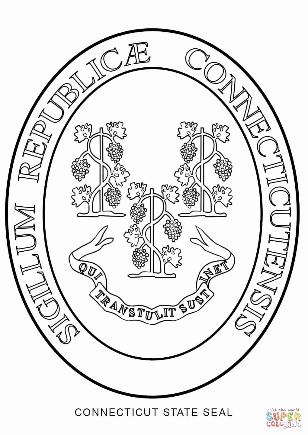Florida State Flag Coloring Page Inspirational Connecticut State Seal Coloring Page Flag Coloring Pages Coloring Pages Coloring Pages Inspirational
